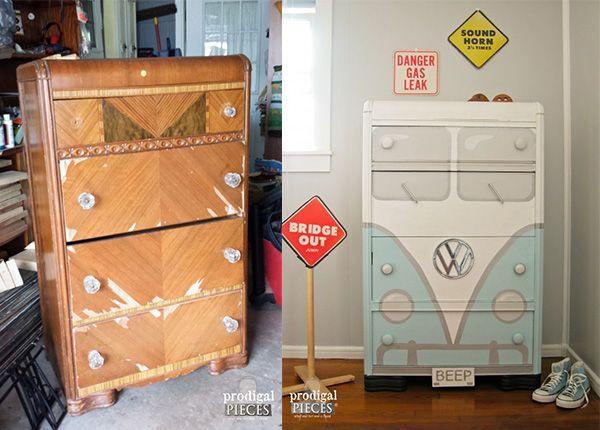 17 mejores ideas sobre Muebles Viejos en Pinterest  Remodelación de los mueb...