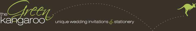 The Green Kangaroo unique invitations & stationary