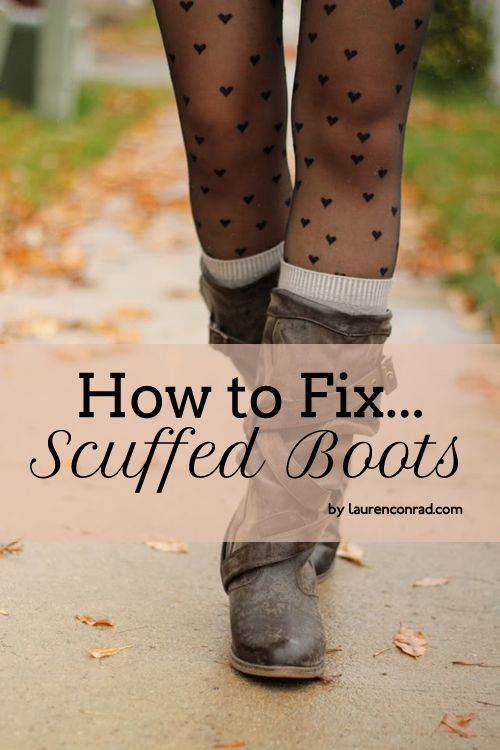 a few brilliant tips for fixing up your scuffed boots. Ok, that's pretty cool, but I also LOVE LOVE LOVE the heart stockings!