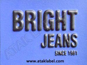 Leather label, embossed, embossing, hot stamping, jeans label, denim label, clothing label   #leatherlabel #derietiket #ataklabel #ataketiket
