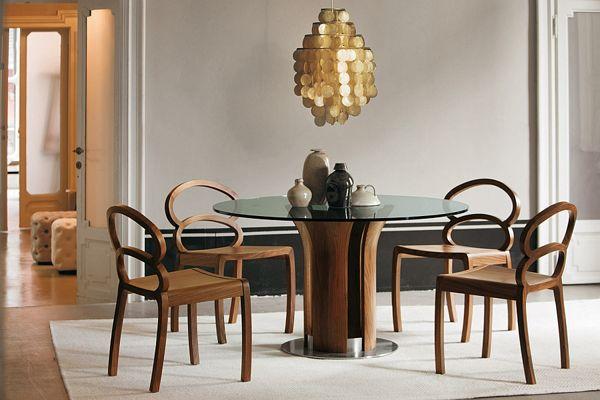 Потрясающие обеденные столы со скульптурной основой. (13 фото)