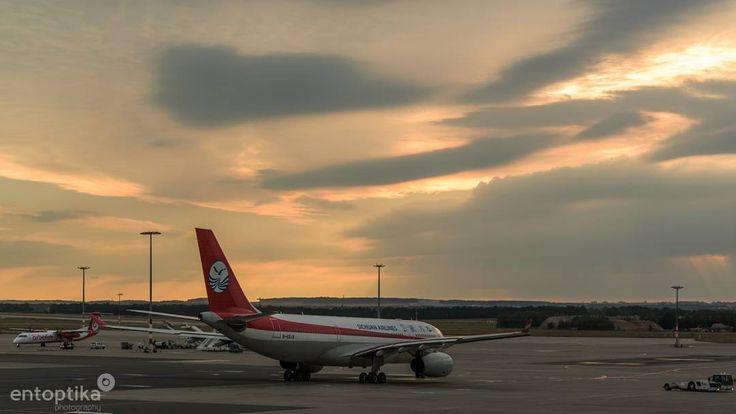Sunset 1 #prague #airport #sunset #clouds #travel #transport