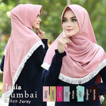 Jilbab instan / HijabTania Rumbai jersey zoya, Jilbab instant dengan pet antem, jilbab sekolah, jilbab kerja, jilbab mahasiswa