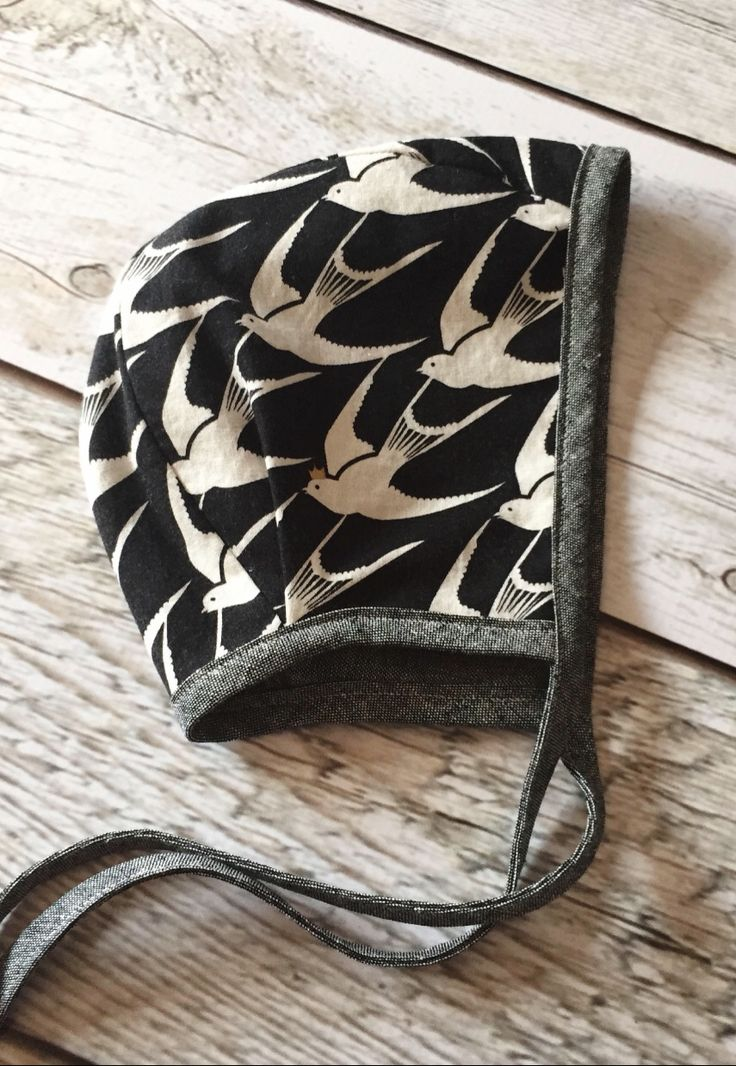 Handmade Bird Print Bonnet | ThePathLessRaveled on Etsy