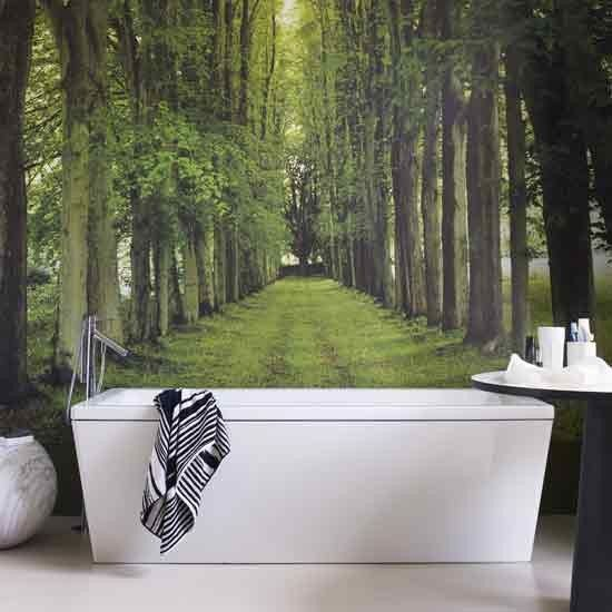 Modern bathroom with woodland mural. 24 best Technology in the bathroom images on Pinterest   Digital