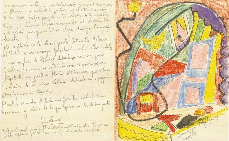 Carta de Federico García Lorca a Manuel de Falla. Agosto de 1923.