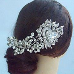 liga das mulheres do vintage com cristal strass rosa headpieces casamento pente de cabelo de noiva