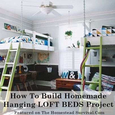 Homemade bunk bed designs woodworking projects plans - How to build a hanging bed ...