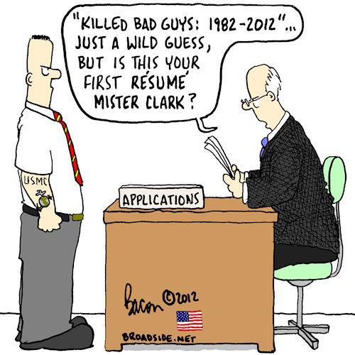 Greenside Cartoons; resume | Military | Pinterest ...
