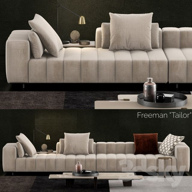 3d Models: Sofa   Minotti Freeman Tailor Sofa 1