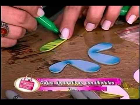 Libélulas y mariposas en foamy, paso a paso | Manualidades con Foamy | Fotos, vídeos, tutoriales e ideas para hacer manualidades con foamy para niños