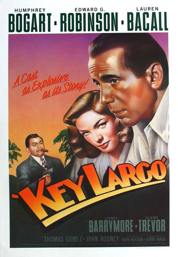 """CAST: Humphrey Bogart, Lauren Bacall, Claire Trevor, Edward G. Robinson, Lionel Barrymore, Thomas Gomez, Dan Seymour; DIRECTED BY: John Huston; Features: - 11"""" x 17"""" - Packaged with care - ships in st"""