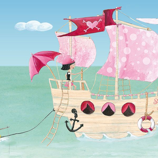 Selbstklebende Bordüre Pink Pirates®