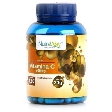 Clique para comprar Vitamina C, 200mg, 120 cápsulas, Nutraway. ✓Fortalecimento da imunidade ✓Antioxidante ✓Essencial para queima de gorduras. - Natue