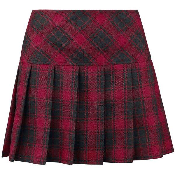 Plaid Pleated Skirt ($31) ❤ liked on Polyvore featuring skirts, saias, tartan plaid skirt, purple plaid skirt, tartan skirt, plaid skirt and knee length pleated skirt