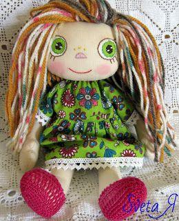 ΥΠΕΡΟΧΕΣ ΔΗΜΙΟΥΡΓΙΕΣ: Оливия - игровая текстильная кукла