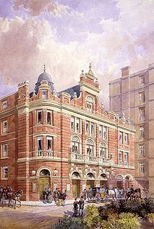 1881 Savoy Theatre - original embankment facade
