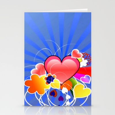 #Society6 - Loving Hearts Stationery Card