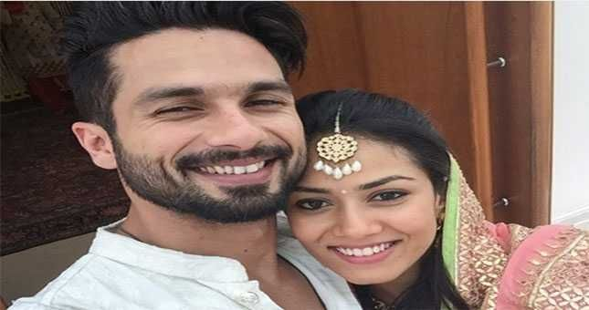 शाहिद ने शादी के बाद मीरा के साथ शेयर की पहली सेल्फी