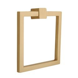 satin brass square ring pull...contemporary and chic. I'm painting my large wooden dresser a jade julep color and am using These as my decorative hardware. It should add some oriental flair