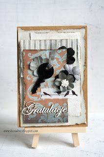 kartka z życzeniami scrapbooking / kartka gratulacyjna / kartka z okazji zakupu mieszkania /