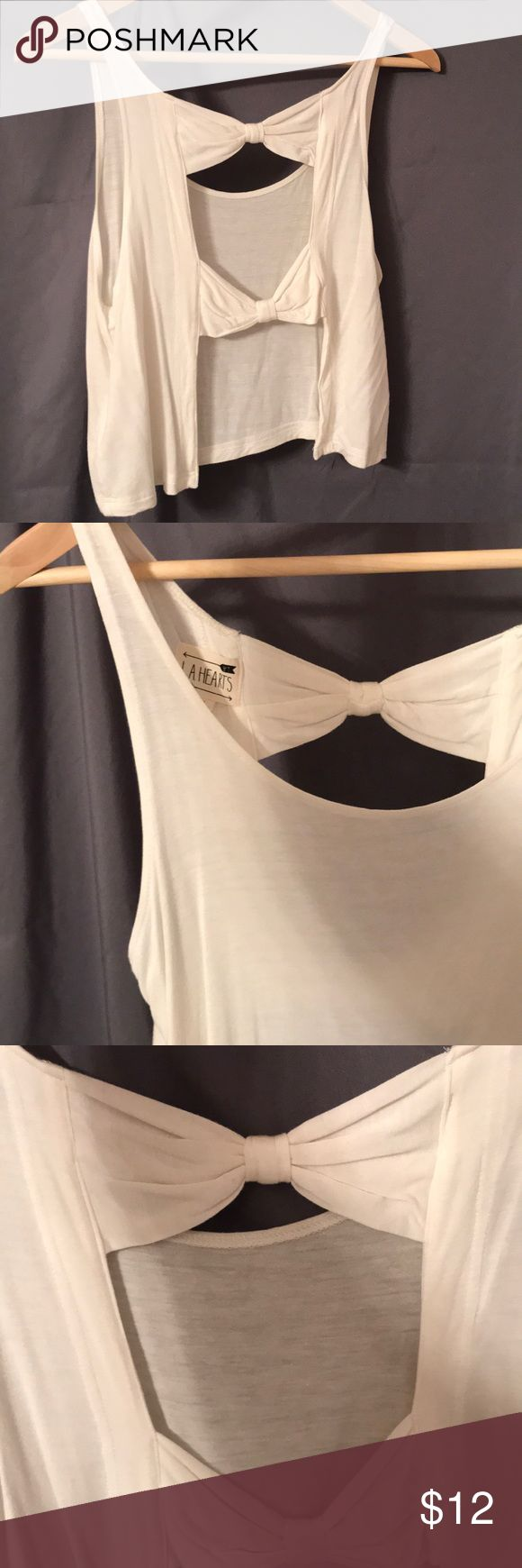 Bow crop top Can't get over how adorable this crop top is. Open back with two bows shown. Lightweight for hot summer days! Perfect match for high waisted shorts or maxi skirts! La Hearts Tops Crop Tops