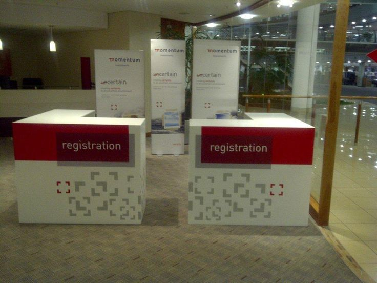 Registration counters for corporate conference #design #rubyoriginal