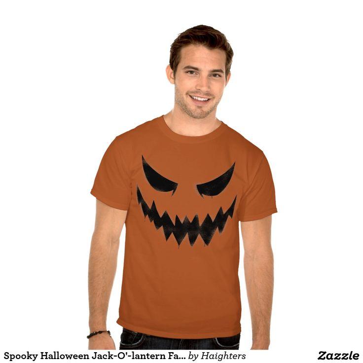 Spooky Halloween Jack-O'-lantern Face Men T-shirt
