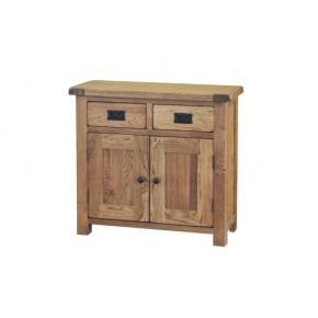 Rustic Solid Oak SRDS15 Small Sideboard  www.easyfurn.co.uk