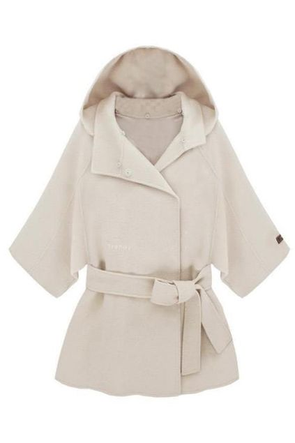 ROMWE | Hooded Lacing Seven Cuffs White Coat, The Latest Street Fashion #ROMWEROCOCO