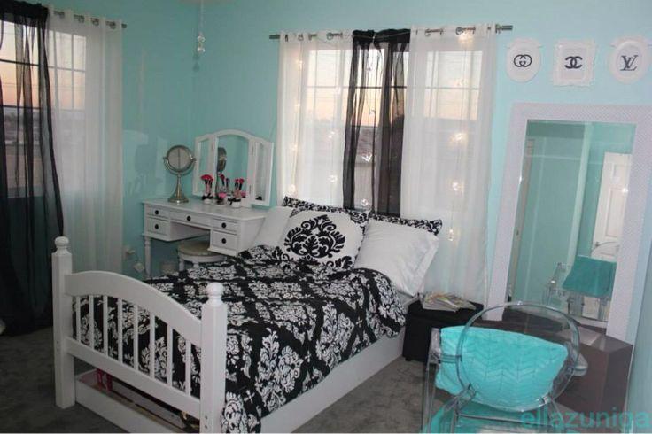 tiffany blue bedroom neat bedroom styles pinterest. Black Bedroom Furniture Sets. Home Design Ideas
