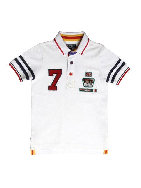 Buy XnY Boys White Polo T Shirt - Tshirts for Boys 1157548  4829402563a65