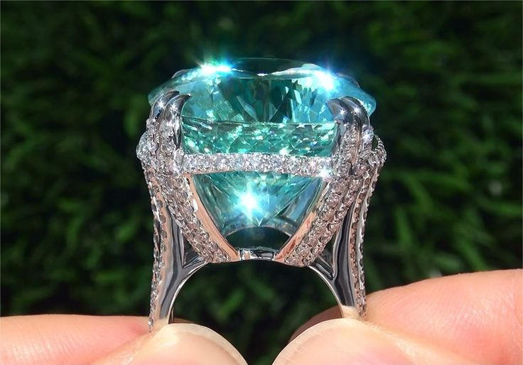 tourmaline   ... 12 Ct Flawless Paraiba Tourmaline Diamond Platinum Estate Ring   eBay