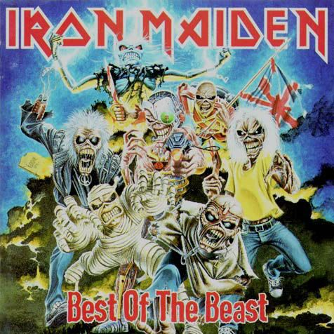 """IRON MAIDEN - """"Best of the Beast"""" (1996) a greatest hits compilation disc."""