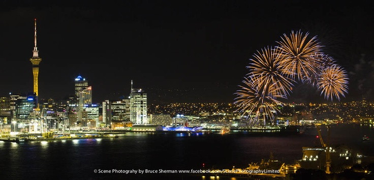 Fireworks over Auckland