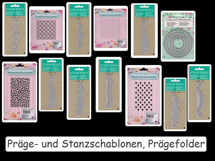 Prägen und Stanzen, Präge-und Stanzschablonen, Prägefolder  - Variantenauswahl