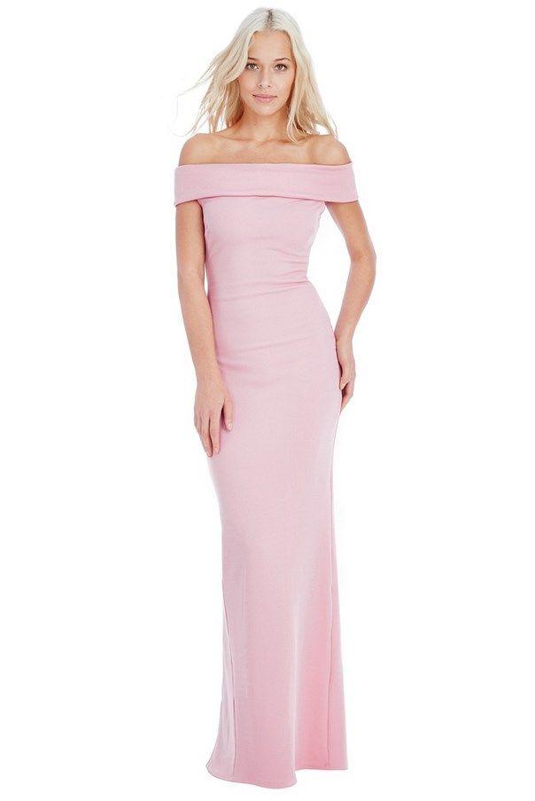Multi Way Bardot Neckline Maxi Dress