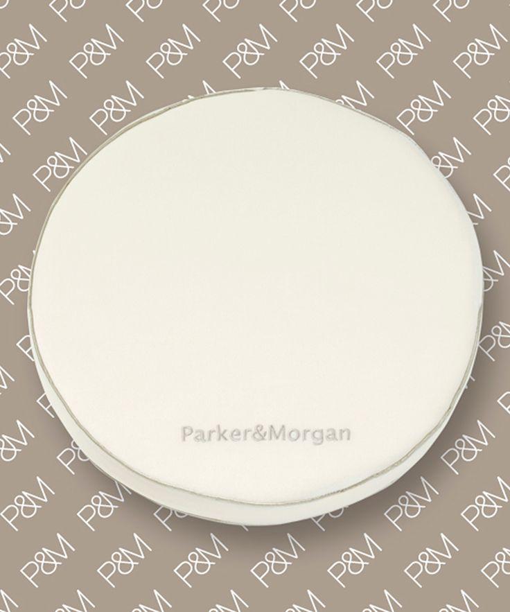 White Knightbridge Memory Foam Round Chair Cushion