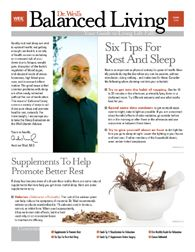 Dr. Weil's Balanced Living Monthly Newsletter - Now available digitally!