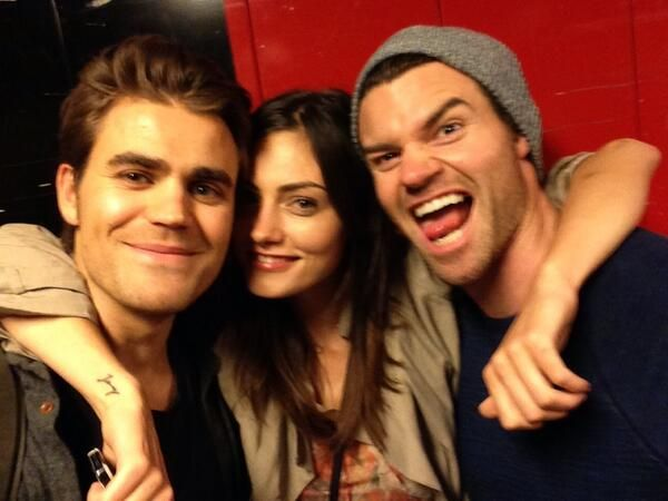 Paul Wesley and Phoebe Tonkin and Daniel Gillies