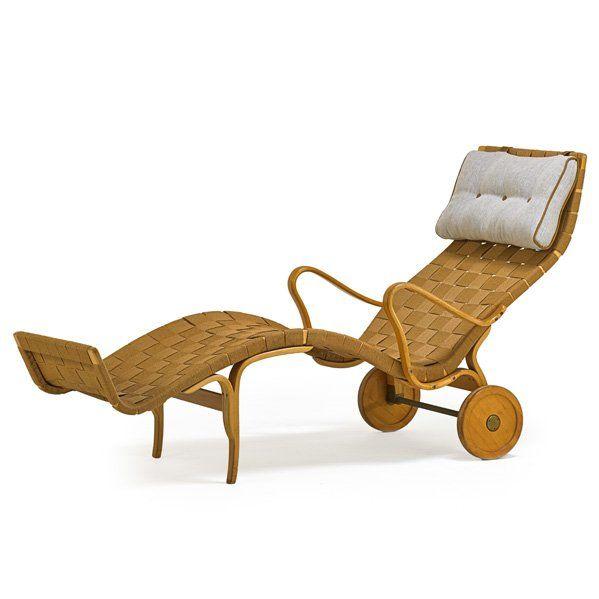 BRUNO MATHSSON Rare Pernilla long chair : Lot 969