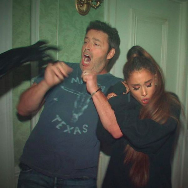 Ariana Grande Powers Through A Haunted House For Ellen DeGeneres - http://oceanup.com/2016/10/31/ariana-grande-powers-through-a-haunted-house-for-ellen-degeneres/