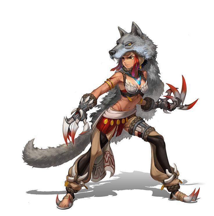 ArtStation - Tribal Warriors., Chung dawoon
