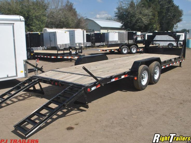 7x24 PJ Trailers | Equipment Trailer [Gooseneck] | Right Trailers | New And Used Cargo and Flatbed Trailers For Sale in Lakeland, Florida