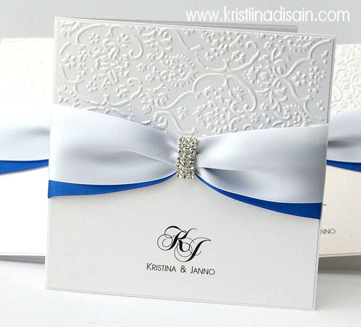 blue-white wedding invitations
