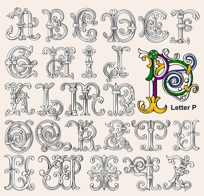 medieval alphabet letters - Google Search