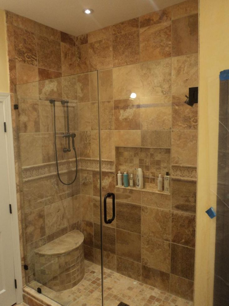 25 best ideas about stand up showers on pinterest tub for Small size bathroom designs