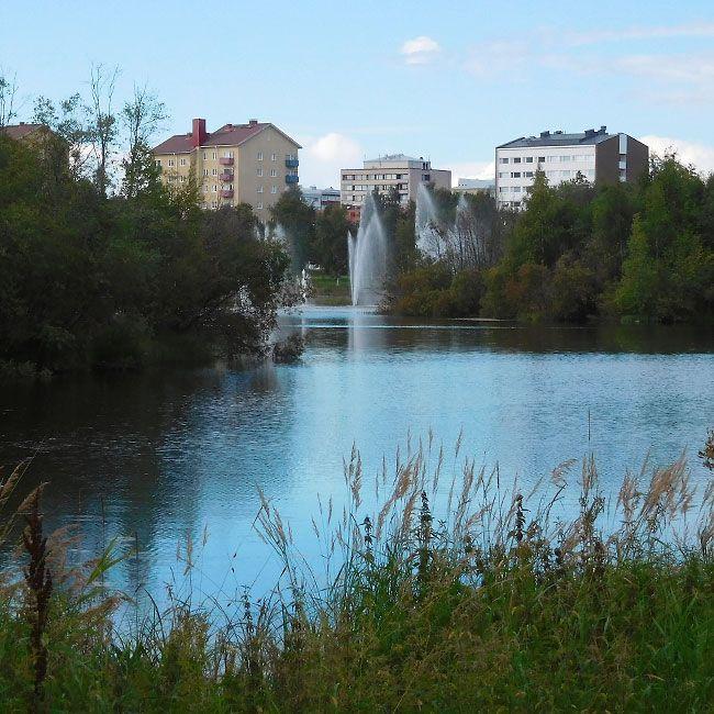 Oulu, Tuira Kaleva kirjoittaa 22.5.2008: 1950-luvulla rakennetut, jo tiensä päähän tulleet kuusi isoa ja kuusi pientä suihkua korvattiin vuonna 2001 kymmenellä isolla ja seitsemällä pienemmällä pärskeellä. Samalla myös Hupisaarten edustalle istutettiin suihkuja. Tämän vuosituhannen suunnitelmissa pyrittiin kunnioittamaan Alvar Aallon alkuperäistä ajatusta. #visitOulu #suihkulähteet #Koskikeskus #Oulu #AlvarAalto #vesisuihkut #luonto #Tuira