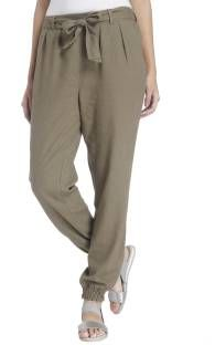 Vero Moda Slim Fit Women's Green Trousers