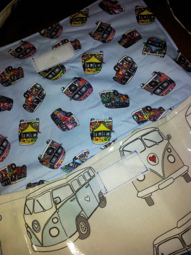 Lined with a smaller print off retro vw vans